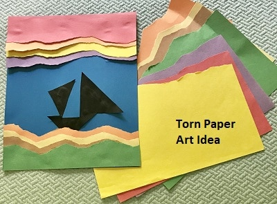 Torn Paper Craft Project