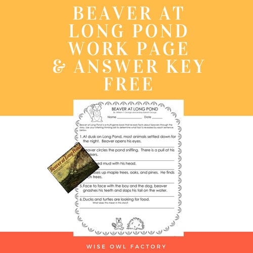 Beaver-at-long-pond-work-page-and-answer-key-free-download