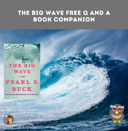 free Power Point and PDF discussion guide for teacher guided lesson, THE BIG WAVE, by Pearl S. Buck