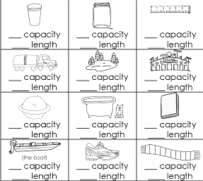 Capacity or Length Free Printable