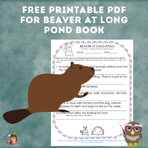 Free Printables for Beaver at Long Pond Book