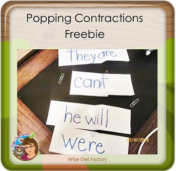 Free Fun With Contractions Printable