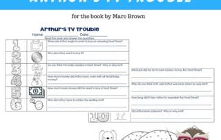 Arthurs-TV-Trouble-free-worksheet-and-answer-key-instant-download