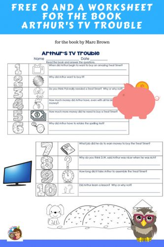 Arthurs-TV-Trouble-free-worksheet-and-answer-key-printable
