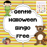 Gentle Halloween Bingo for Pre-K through 1