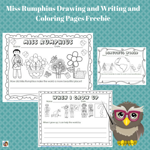 Miss-Rumphius-color-and-writing-free-printable-PDF