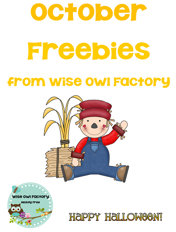 October freebies from Wise Owl Factory