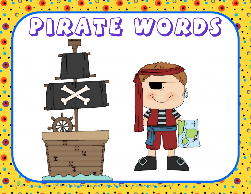 Free Printables Talk Like a Pirate Day