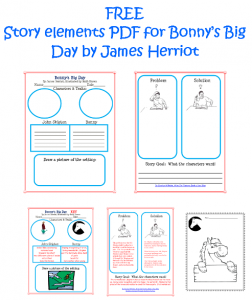 Bonny's Big Day work pages and answer keys
