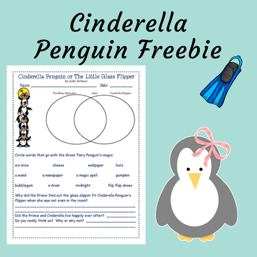 Cinderella-Penguin-or-The-Little-Glass-Flipper-Free-printable