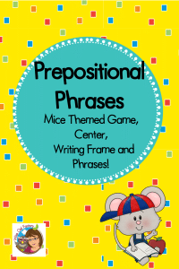 Mice Theme Prepositional Phrases Product and Free Sample