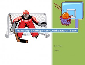 Free Manuscript Pages Printing Sports Theme