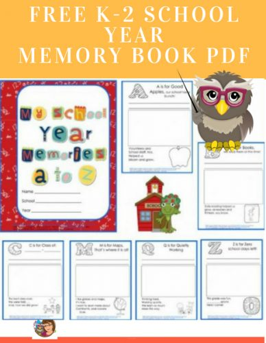 photo regarding Free Printable Memory Book Pages known as No cost K-2 College or university Calendar year Memory E book PDF