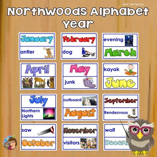 antler-bear-canoe-Northwoods-alphabet-year-pocket-chart-cards