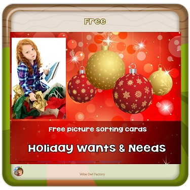 holiday-wants-and-needs-sorting-and-lesson