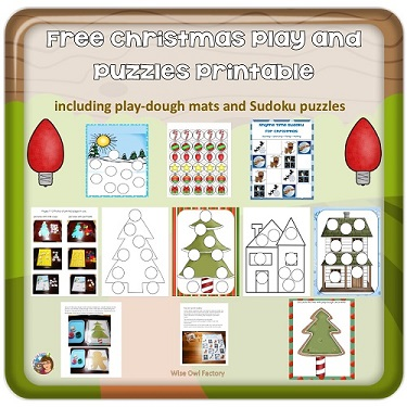 play-dough-mats-and-sudoku-puzzles-and-activities-Christmas free PDF