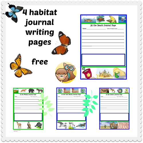 Free Nature and Habitat Journal Printable pages