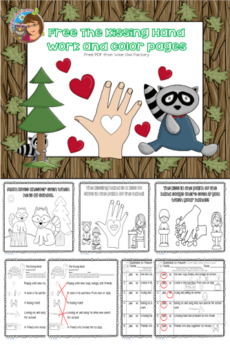 Free Printable for The Kissing Hand • Wise Owl Factory