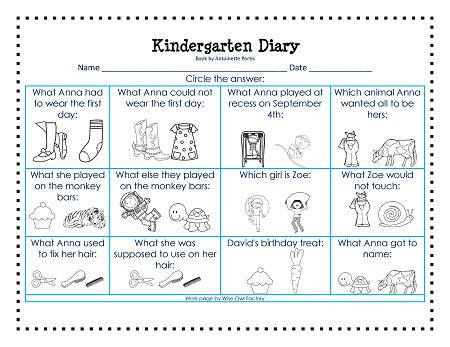 Kindergarten Diary Free Printable