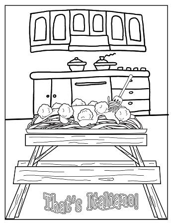 Strega Nona Coloring Page