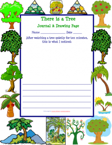 Free Tree Journal Writing Page