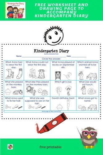 kindergarten-diary-free-worksheet-key-and-drawing-page-printable