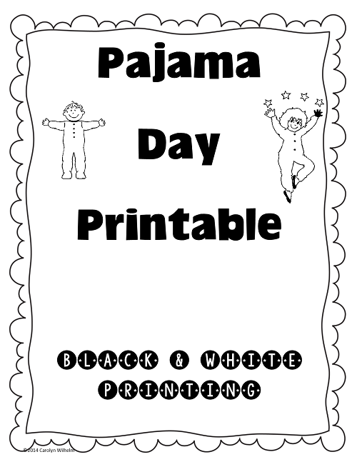 Fancy Nancy Pajama Day work page graph and key