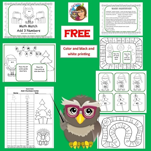 3-addends-christmas-math-freebie-printable-60-pages-PDF