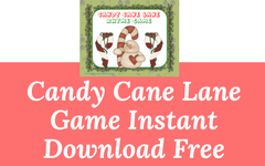 Candy Cane Lane Rhyme Game