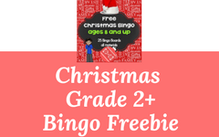 Christmas Bingo Grade 2 and Up