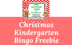 Christmas Bingo for Kindergarten