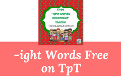 Free -ight December Theme Word Cards, Graph, and Read the Room