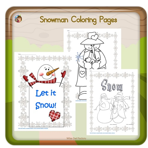 let it snow pages to color photo