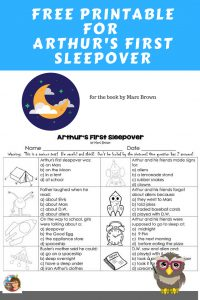 Arthur-First-Sleepover-freebe-instant-download-work-page