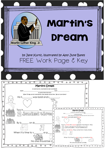 Free Printable for Martin's Dream by Jane Kurtz
