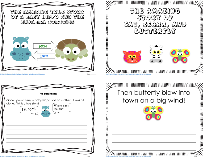Free Writing Printable for Owen & Mzee