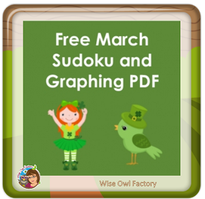 free-March-Sudoku-cards at the blog on the post