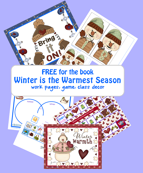 Free Winter Season Printable Including Game and Class Decor