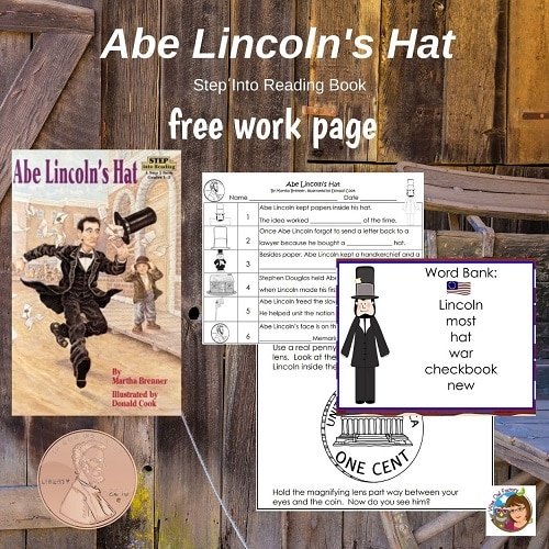 Abe-Lincolns-Hat-free-work-page-key-and-examine-the-penny-directions