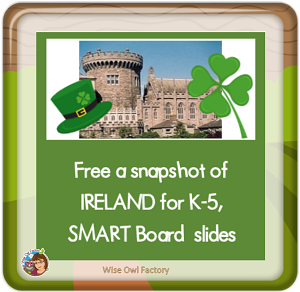 Free Ireland Snapshot SMART board Interactive File