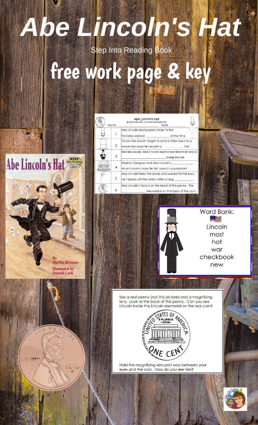 Free Printable for Abe Lincoln's Hat by Martha Brenner