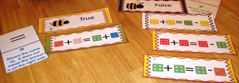 true or false math sentences page photo of domino game