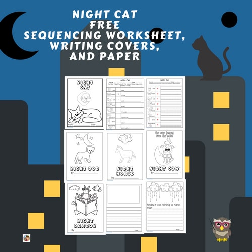 night-cat-free-writing-frames-printable-and-sequencing-work-page-and-key