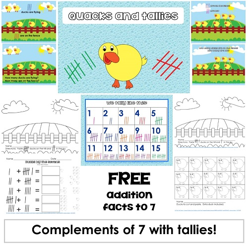 Tallies to Seven Printable Free PDF