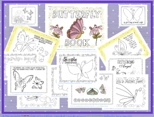 butterfly coloring book for Small Hands Creating Hope book