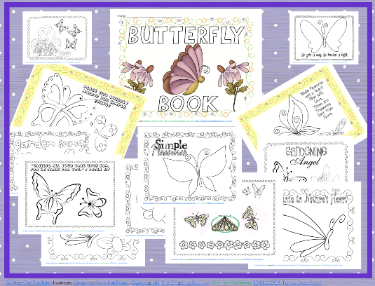 free butterfly coloring page to print
