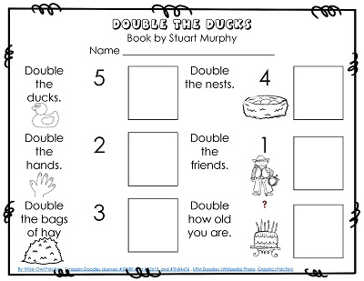 Doubles Facts Free Math Printable PDF