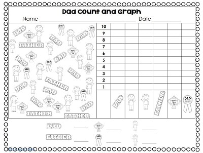 Free Father's Day Graphing and Printable