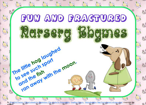 Free Pocket Chart Cards for Fun and Fractured Nursery Rhymes