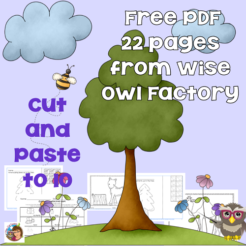 Cut and Paste Numbers 1-10 Free Counting PDF